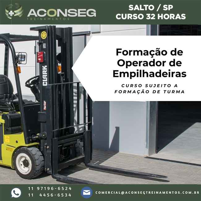 Formação de Operador de Empilhadeiras em Salto - SP